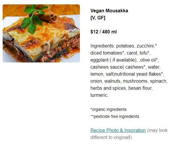 Vegan Mousakka